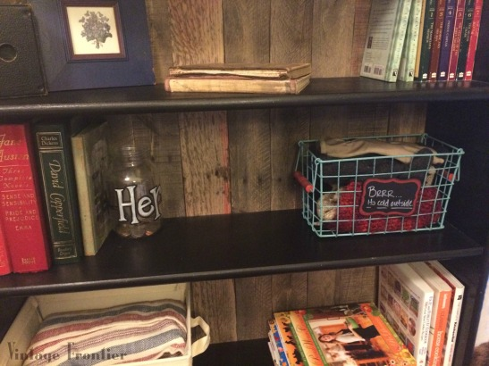 Bookshelf Makeover with Pallet Boards