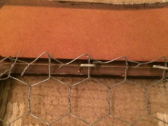 Chicken Wire Picture Frame Close UP