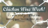 Join us at Vintage Frontier for a fun week of creative ways to use Chicken Wire.