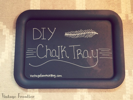 DIY Chalk Tray