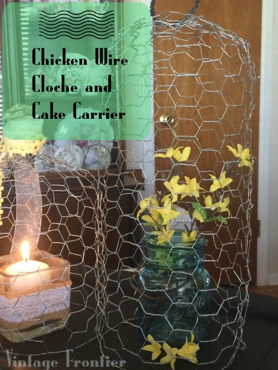 DIY Chicken Wire Cloche and Cake Carrier