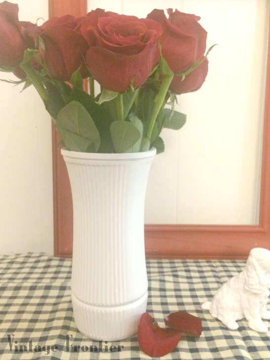 DIY Milk Glass Vase