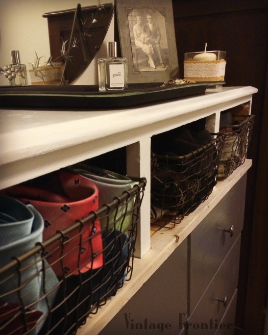 Dresser with wire drawers