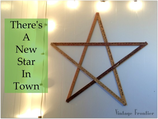 Five Minute Yard Stick Star Wall Art