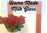 Home Made Milk Glass