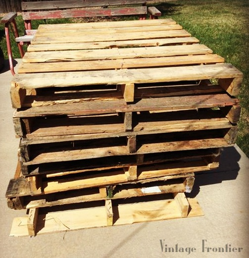You can do just about anything with pallets, even patio furniture.