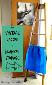 Vintage Ladder to Blanket Storage