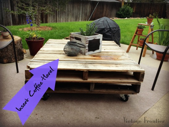Add some fun to your patio or deck with a great coffee table made from pallets.