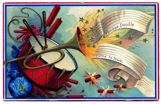 Some fun facts and vintage postcards to get your into the patriotic mood for the Fourth of July.