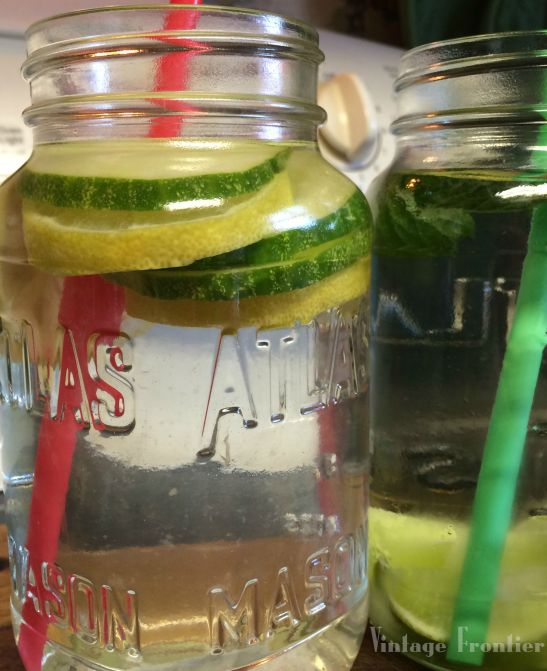 An easy way to help yourself drink more water is to add fresh flavor with things like lemon and cucumber.