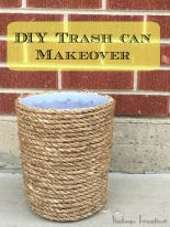 Finish up this project in an afternoon and take a bland trash can to the next level.