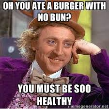 Just remember the little things add up, skipping the bun is a great way to be able to have more of the stuff you want and not go off the deep end this labor day.