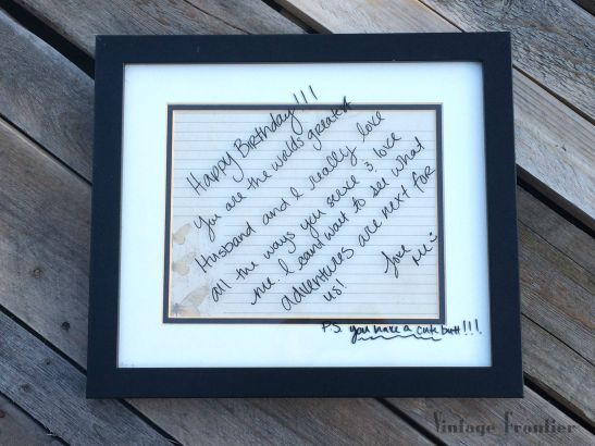 A thrift store frame and some scrapbook paper are all you need to encourage someone special in your life.