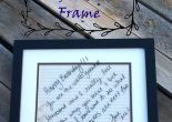 Five Minutes and a great thrift store frame = a great way to encourage someone you loves.