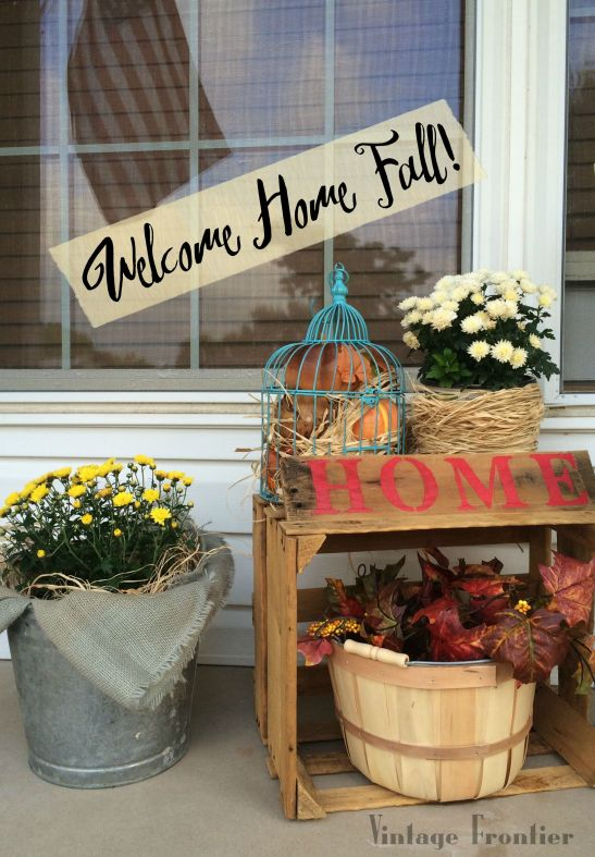 Makeover your porch for fall the fast easy way.