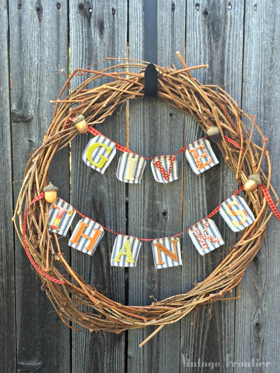 Instead of buying a wreath made of vines from the craft store, make your own...it takes no time at all.