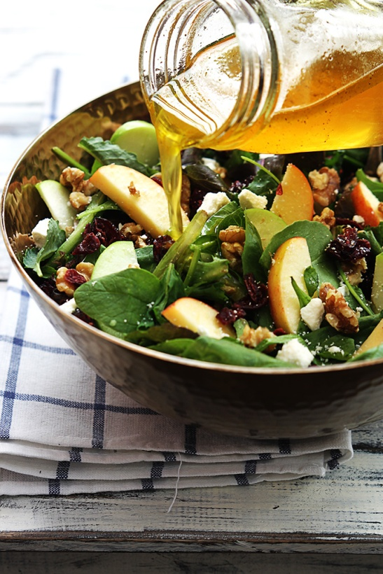 Apple Cranbery Walnut Salad Creme De La Crumb