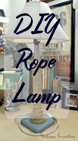 DIY Decorative Rope Lamp
